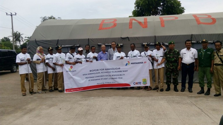 Pertamina dan CARE LPPM IPB launching gerakan biopori di Karawang